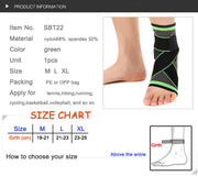 Nylon elastic ankle strap for support