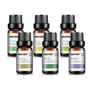 6 Fragrances: Lavender, Tea Tree, Rosemary, Lemongrass, Orange and Peppermint Oil for Aroma Diffuser