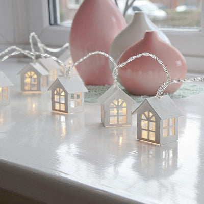 Cozy House Shaped Led String Decoration Light
