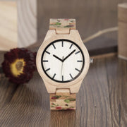 Wooden Flower Watch