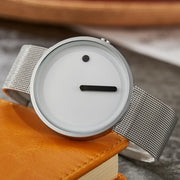 Minimalistic Stylish Mesh Watch - Silver