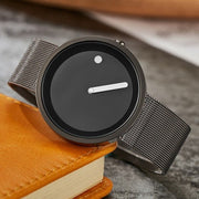 Minimalistic Stylish Mesh Watch - Black