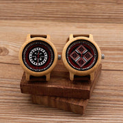 Relogio Wood & Soft Leather Watch