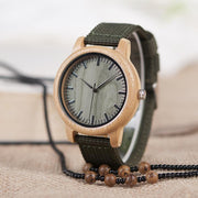 Wooden Watch with soft Nylon strap