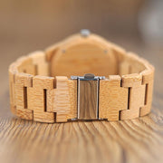 Bamboo Watch with Deer Faceplate
