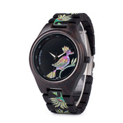 Dark Bird Wooden Watch