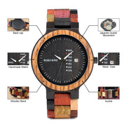 Colorful Wooden Watch