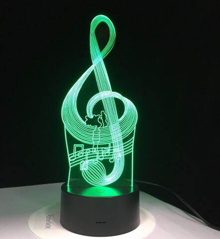 3D Led Effect Muzieknoot 2