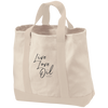 Live Love Oil | 2-Tone Shopping Tote