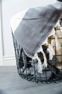 Trade & Sainte Turkish Towel - Super Soft and Absorbent Bath Towels - Beautiful and Functional Chevron Design | Turn Your Bathroom Into a Spa Retreat