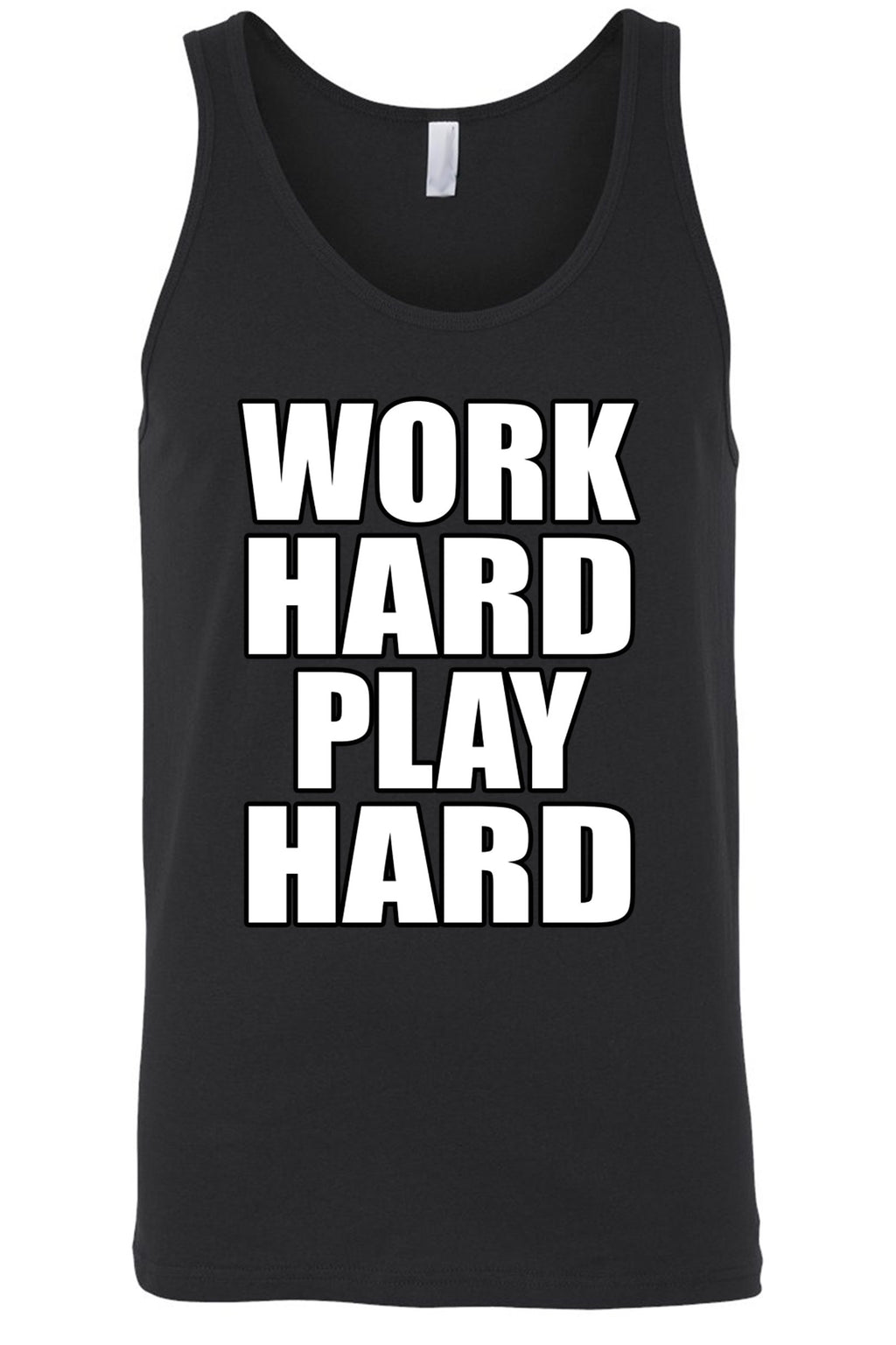 Men's Work Hard Play Hard Tank Top Shirt