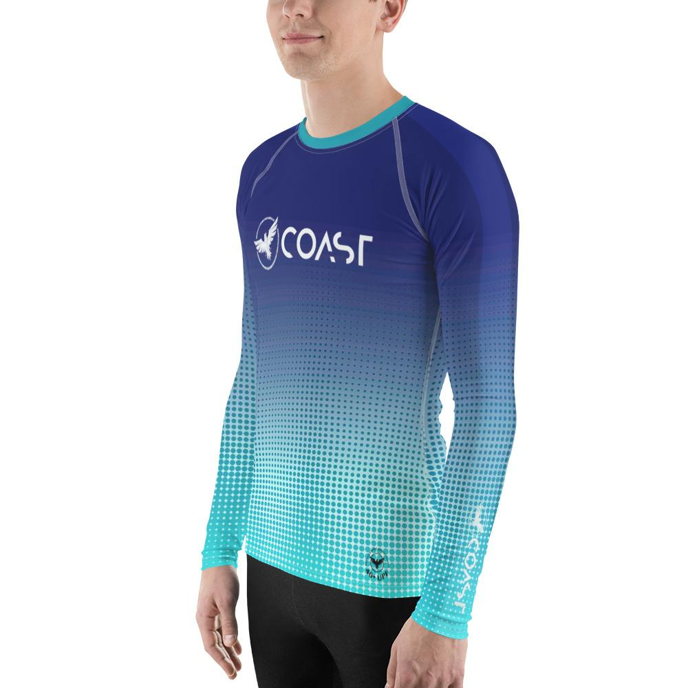 Men's Faded Hyper Drive Sleeve Performance Rash Guard UPF 40+