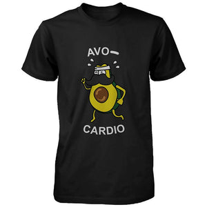 Avocardio Funny Men's Shirt Cute Work Out Tee Cardio Short Sleeve T-shirt