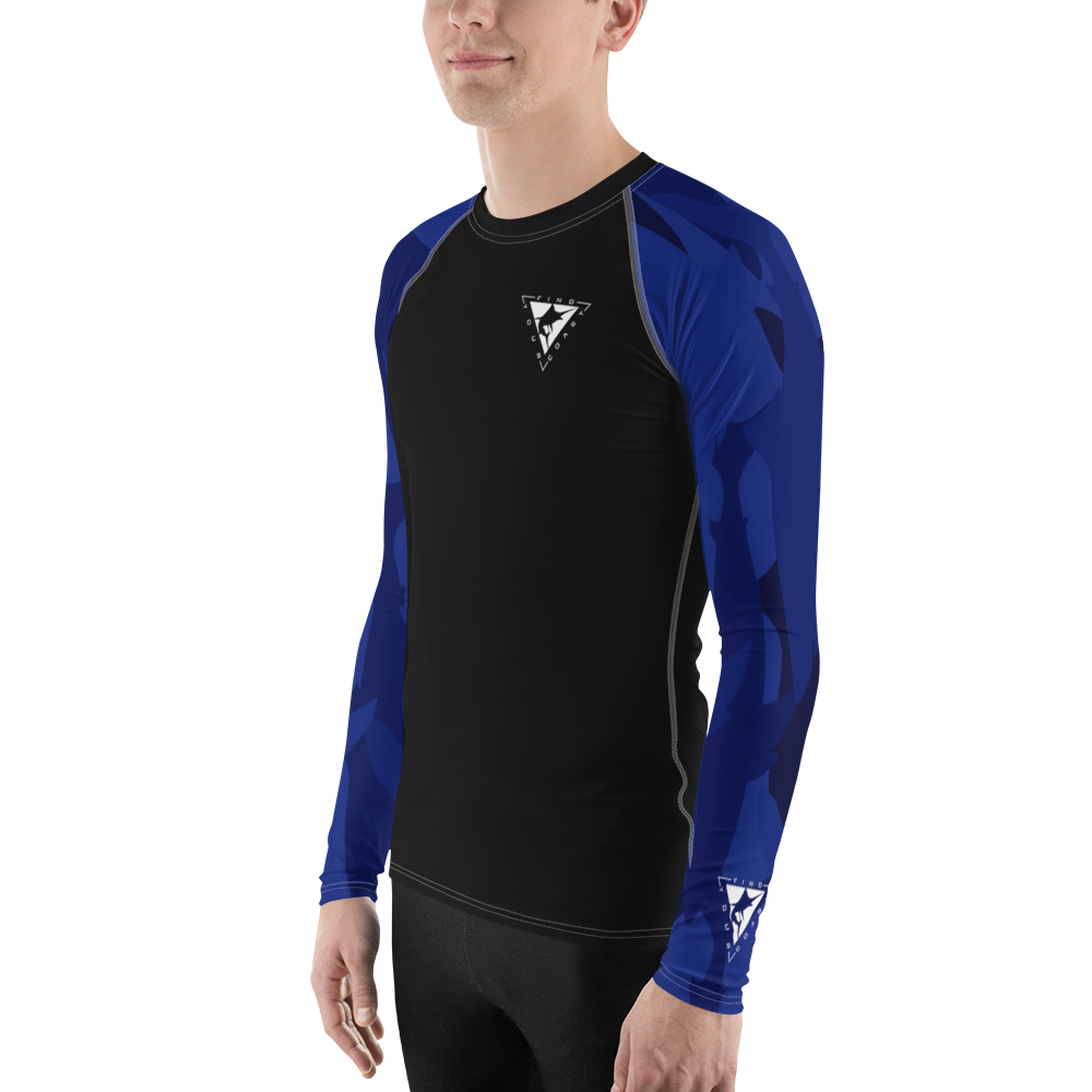 Men's Blue Coast Sleeve Performance Rash Guard UPF 40+