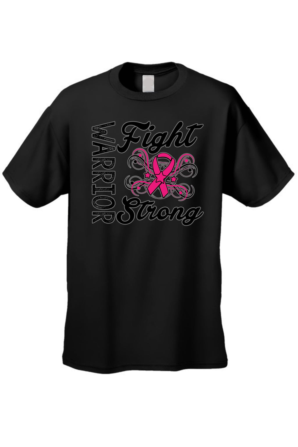 "Unisex ""Warriors Fight Strong"" Breast Cancer Awareness""  T-shirt"