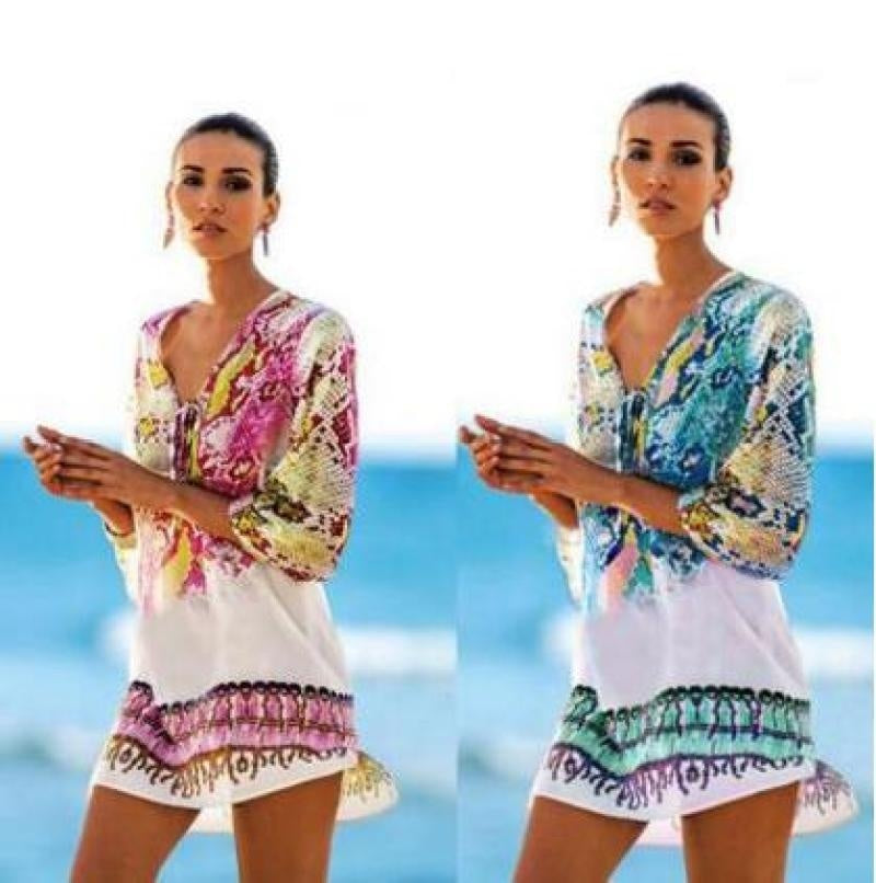 Caftan Chiffon Cover Up Swimsuit