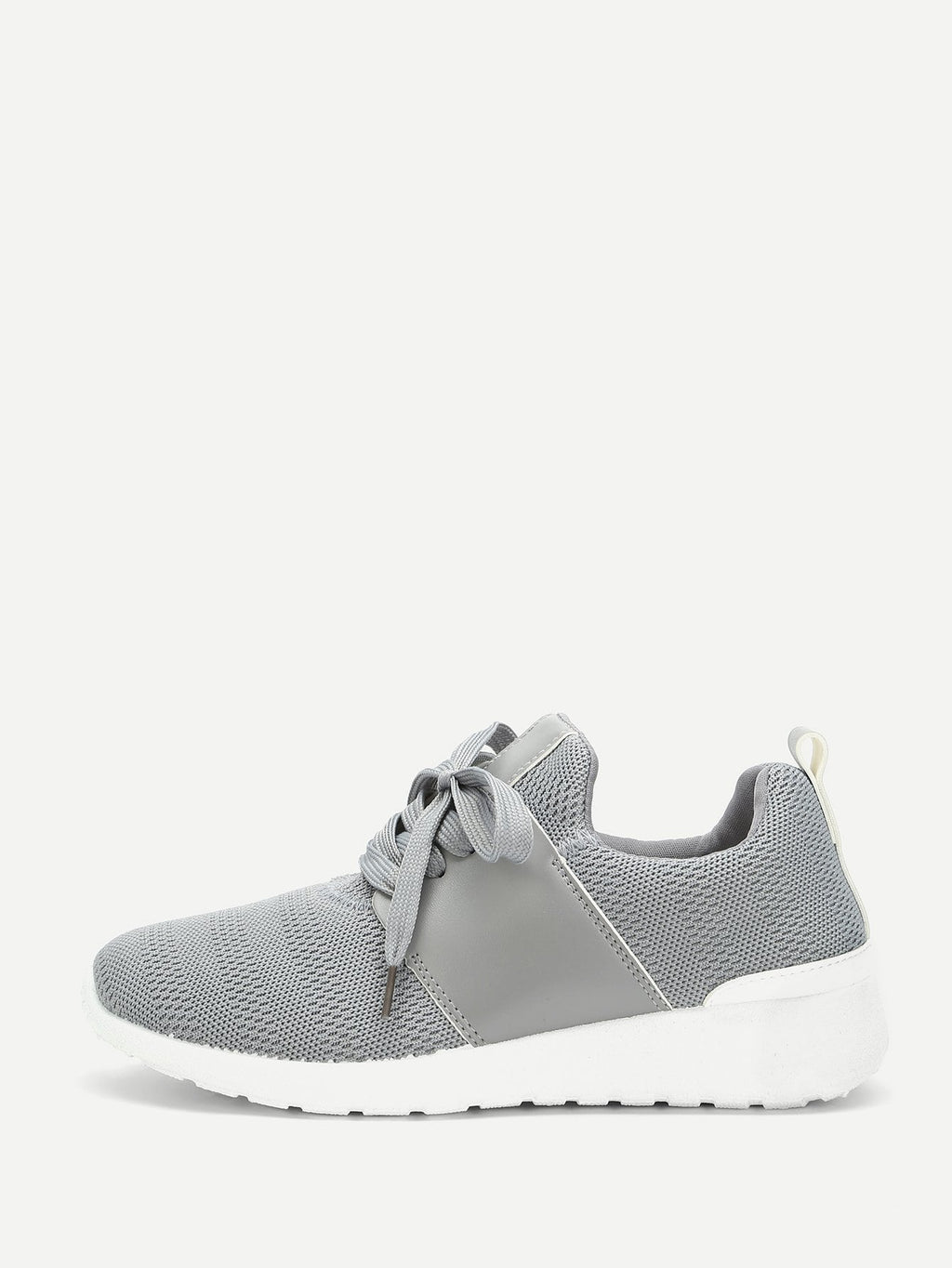 Lace Up Knit Chunky Sole Trainers