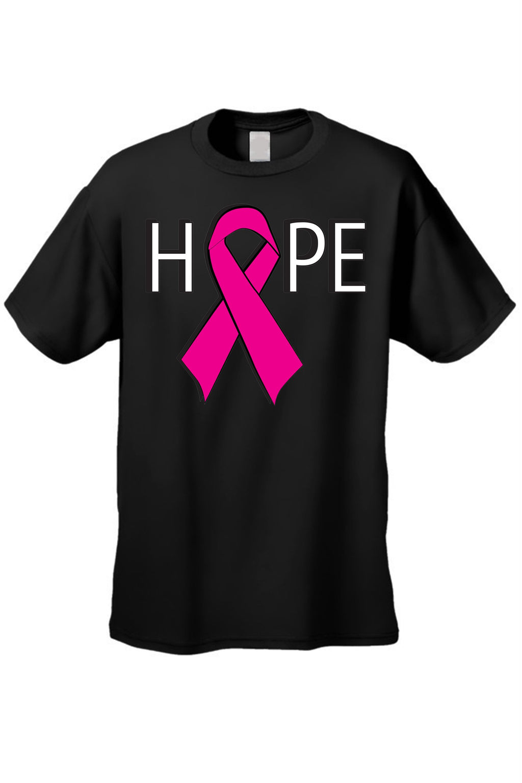 "Unisex Breast Cancer Awareness ""HOPE""  Short Sleeve T-shirt"