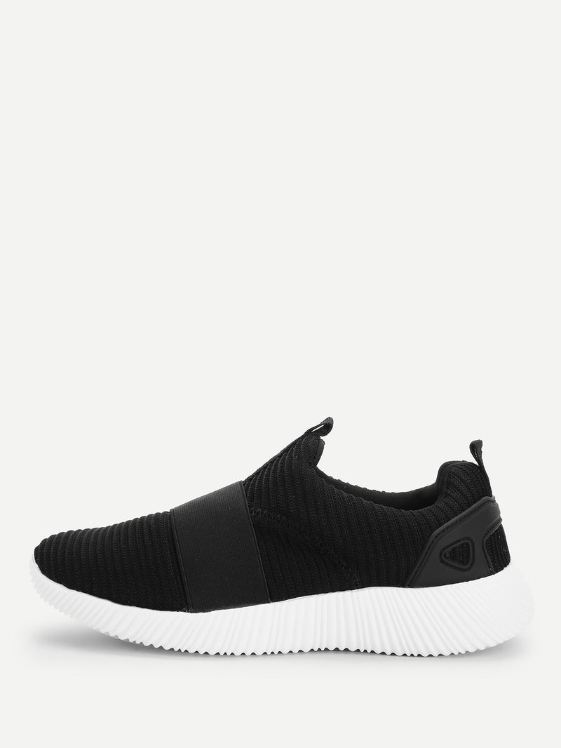 Low Top Slip On Velcro Sneakers