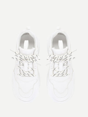Topstitch Lace-Up Sneakers
