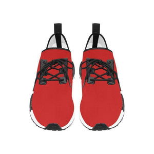 Red Mens Trainers Sneakers with Black Lion Running Style