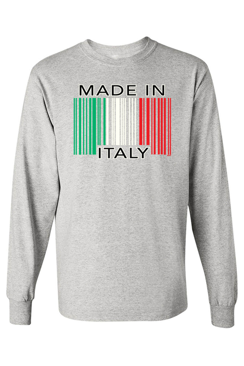 Unisex Funny Made In Italy Missing Prints Long Sleeve shirt