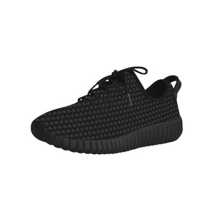 Lion Pattern Mens Black Ribbed Trainers
