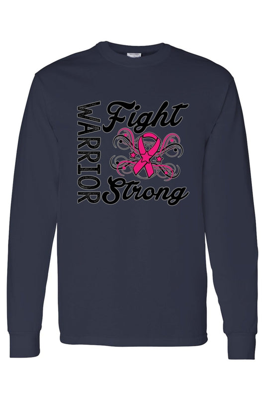 Unisex Warriors Fight Strong Breast Cancer Awareness Long Sleeve shirt