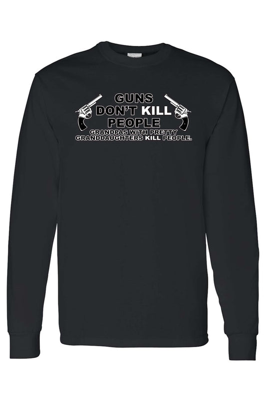 Unisex Funny Guns Don't Kill People Long Sleeve shirt