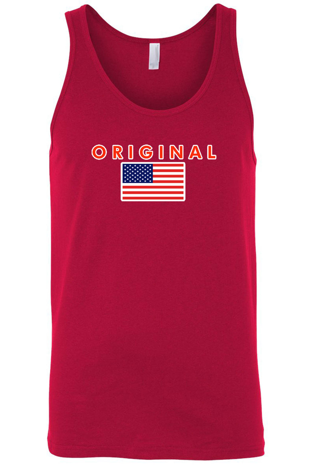 USA Flag Tank Top Men's Original Amercian Shirt