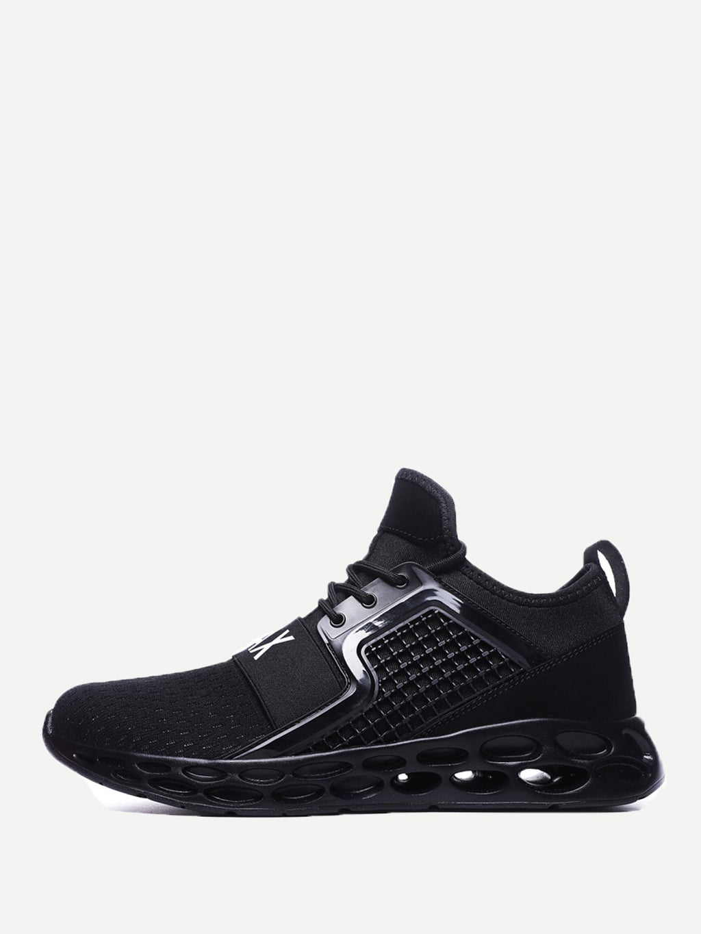 Men Textured Embossed Mesh Sneakers