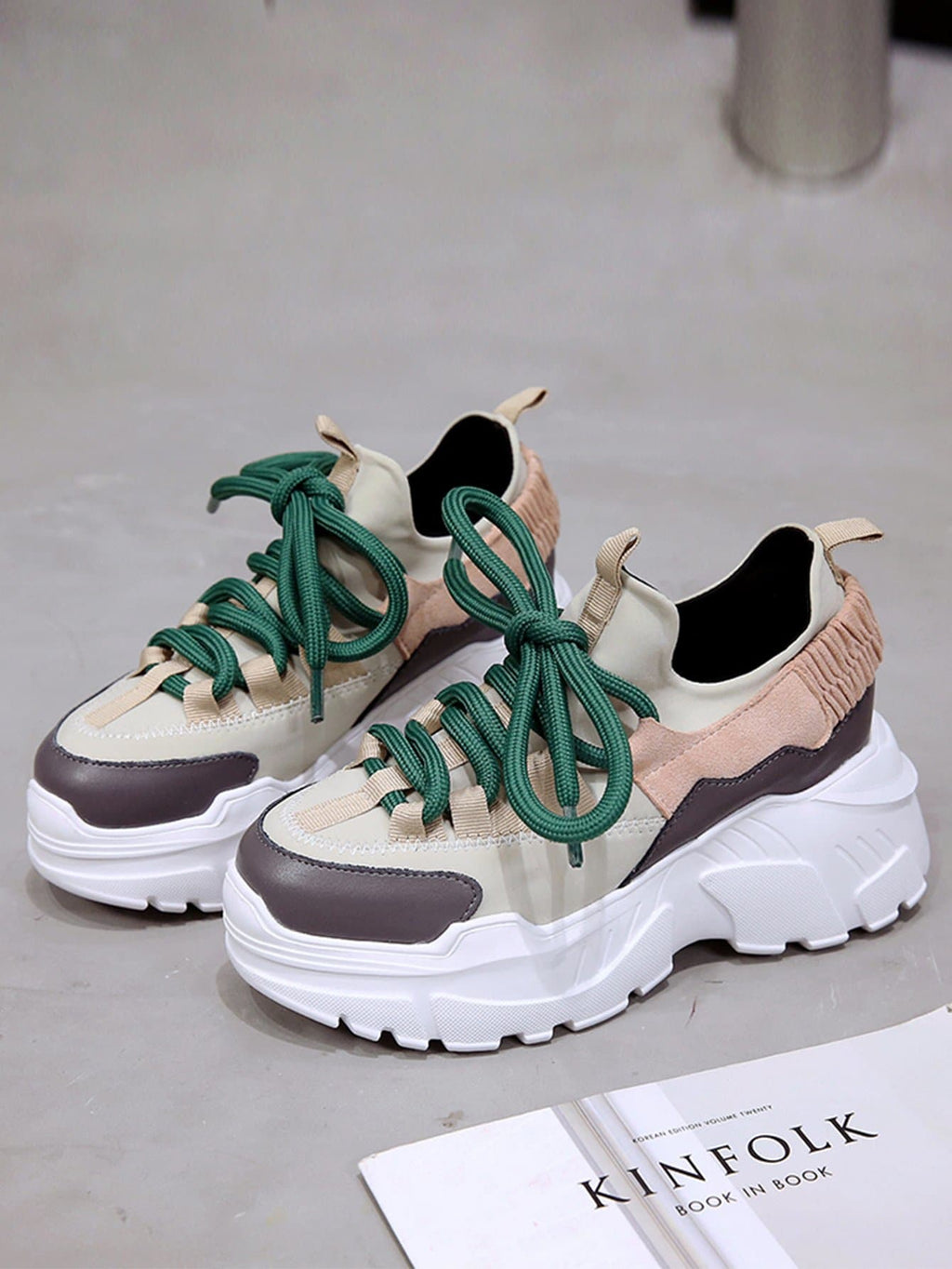Lace Up Chunky Sole Sneakers