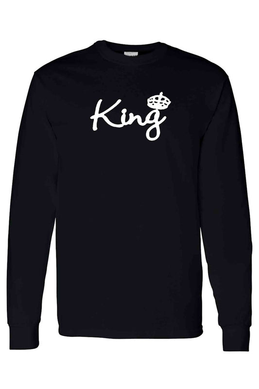 Unisex Long Sleeve Shirt Bow Down To The King
