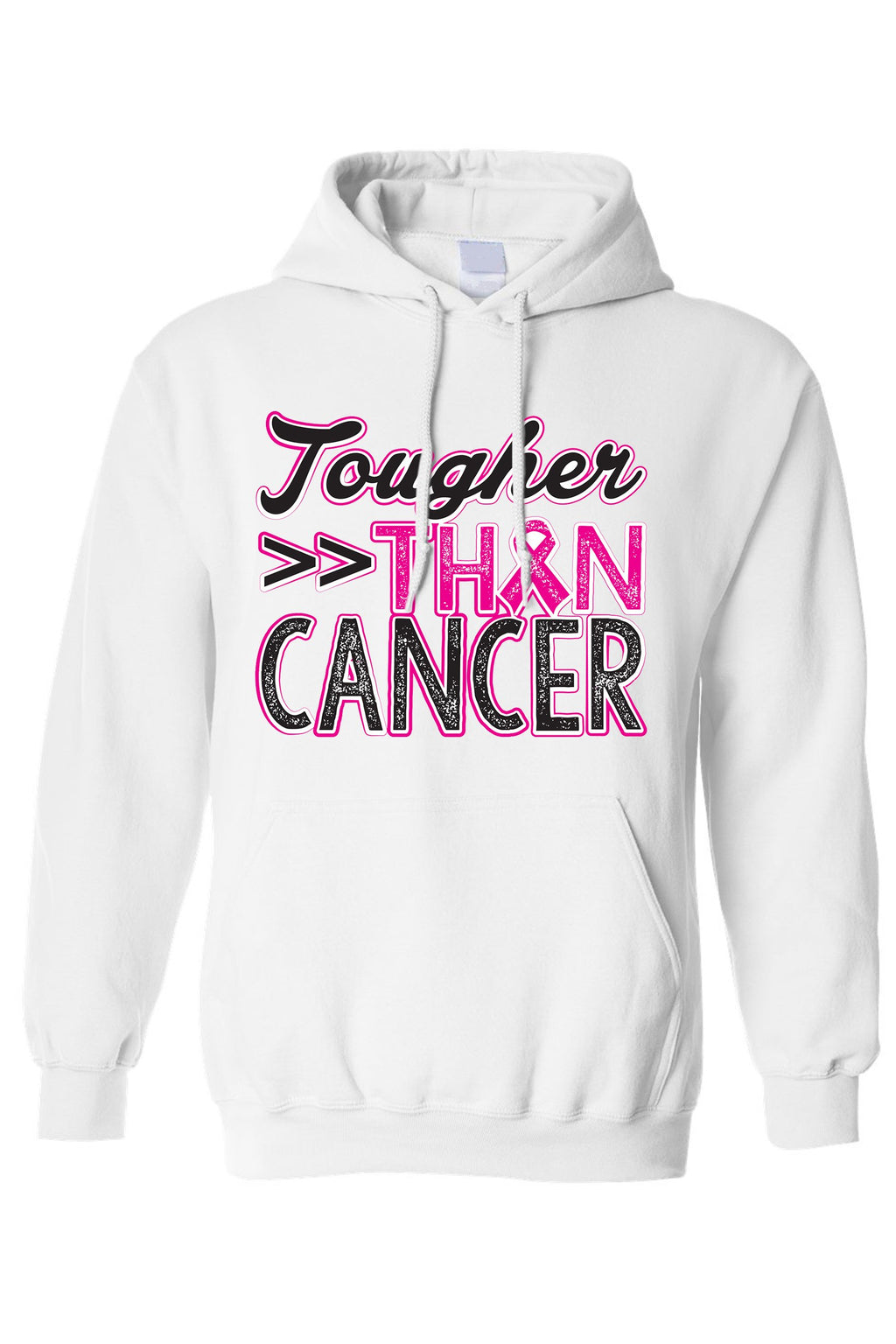 Pullover Hoodie Breast Cancer Awareness Tougher Than Cancer