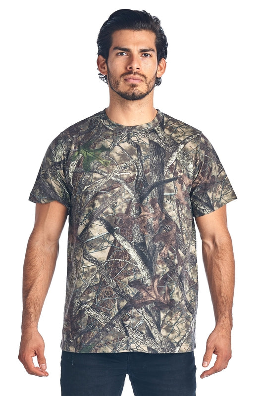 Camo Hunting Short Sleeve T-Shirt Camouflage Authentic True Timber S-5XL