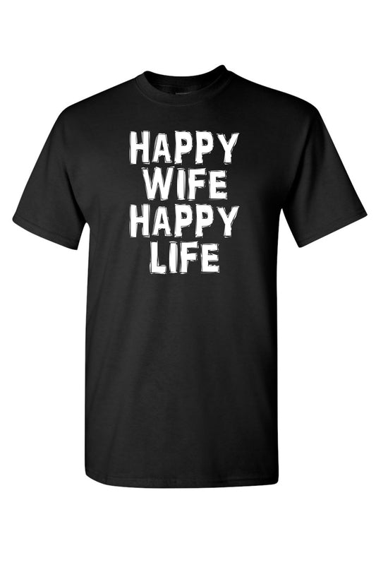 Unisex Happy Wife Happy Life Short Sleeve Shirt