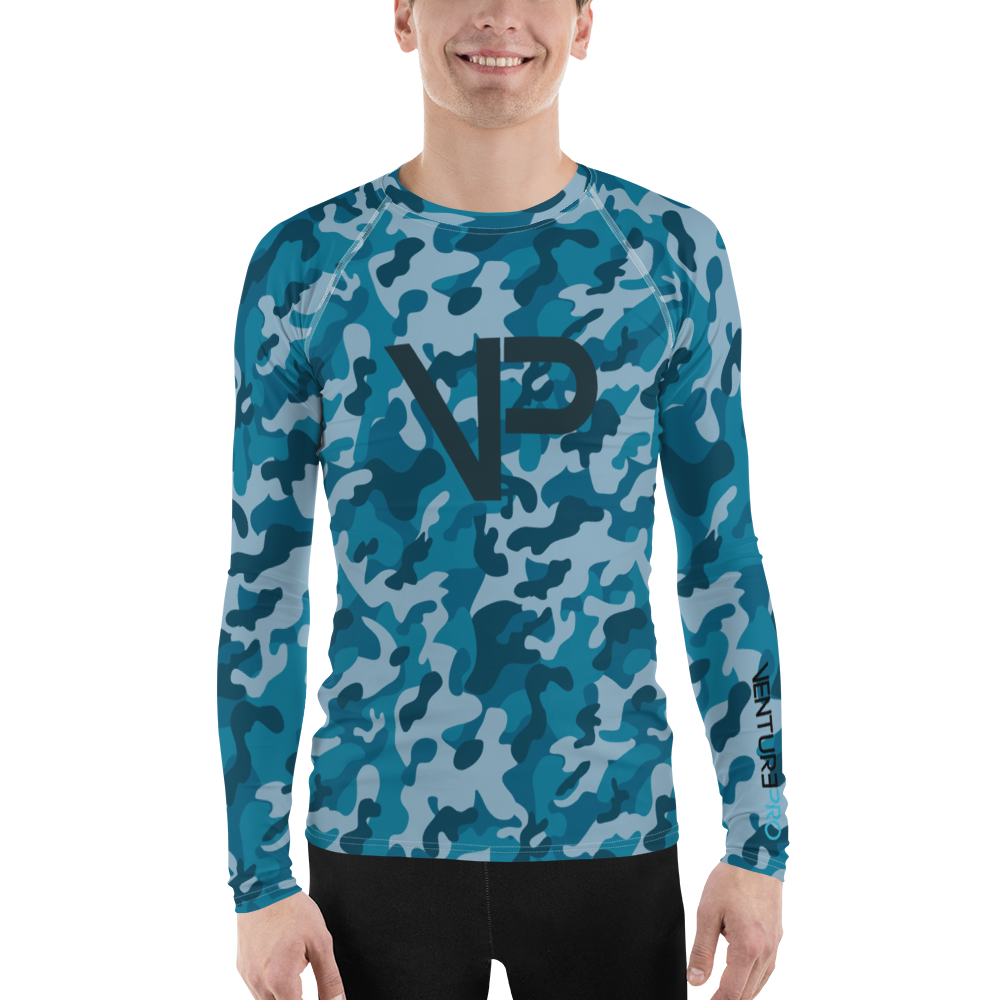 Men's Venture Pro Ocean Camo Performance Rash Guard UPF 40+