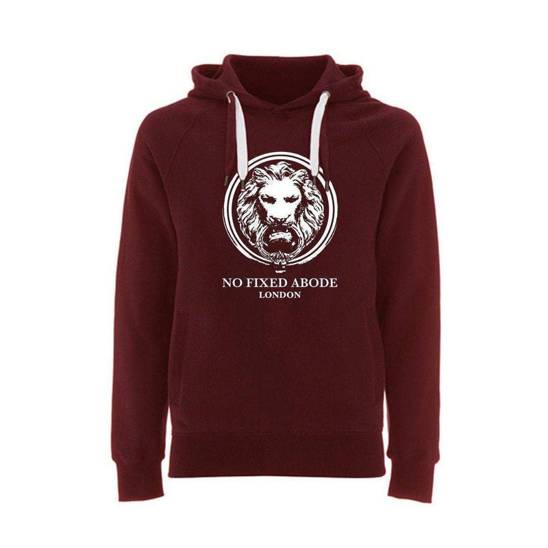 Organic Hoodie Large Lion Front Pockets