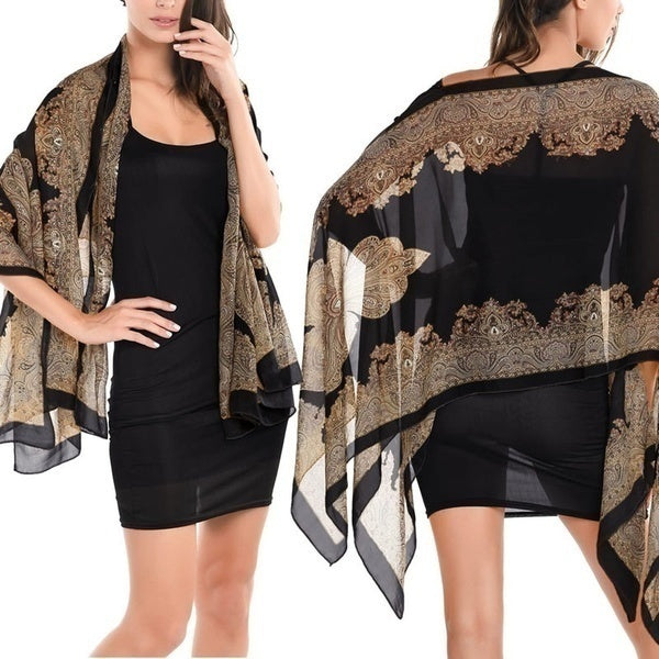 Long Soft Chiffon Neck Scarves Cover Up