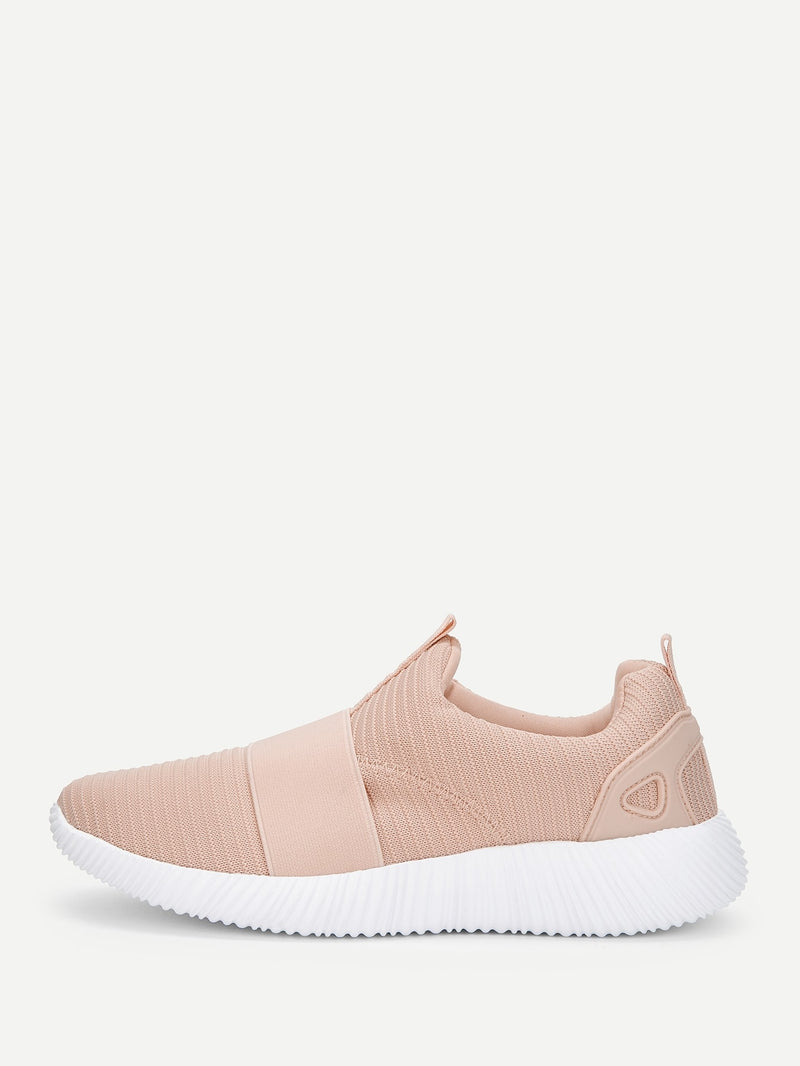 Low Top Slip On Knit Sneakers
