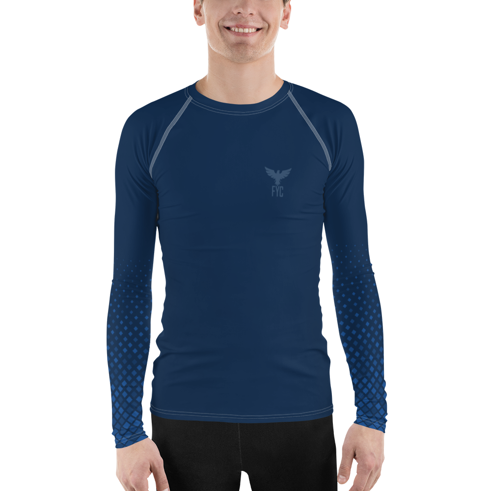 Men's Grommet Sleeve Performance Rash Guard UPF 40