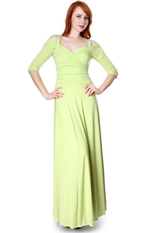 f91a76f7ac57 Evanese Women's Elegant Formal Long Evening Dress with 3/4 Sleeves Ball Gown