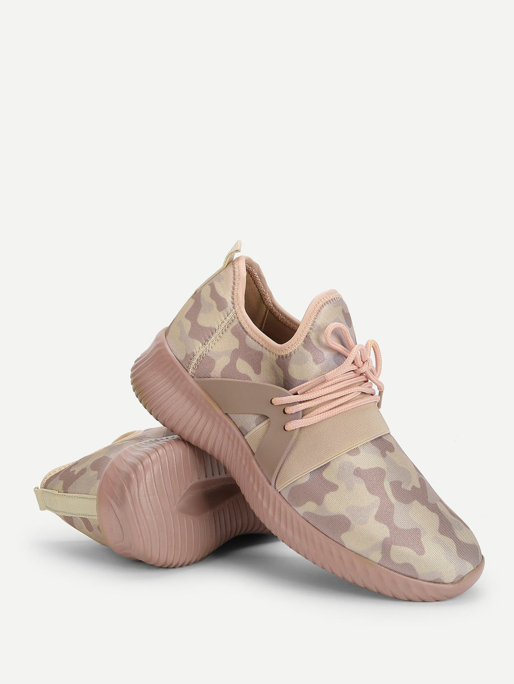 Camo Print Lace Up Sneakers