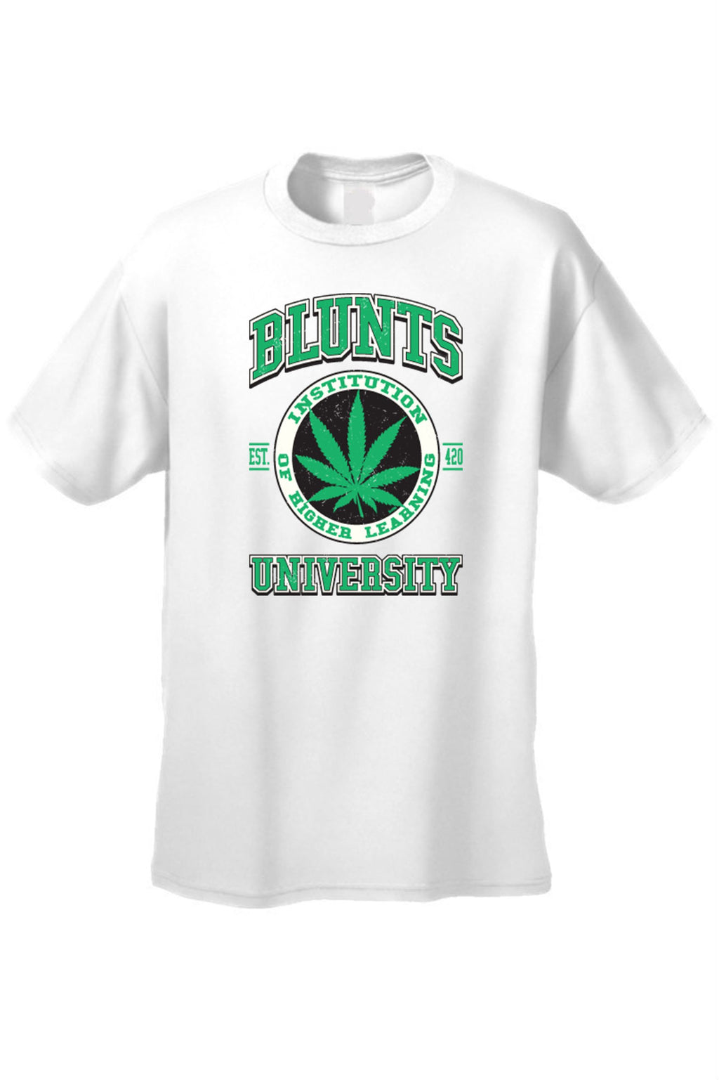 Men's Blunts Institution of Higher Learning University T-Shirt