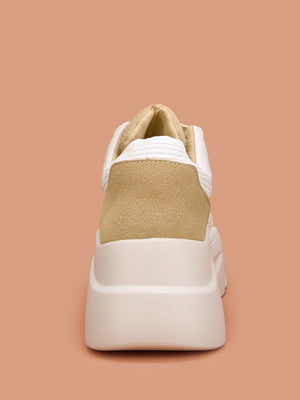 Suede Panel Chunky Sole Trainers