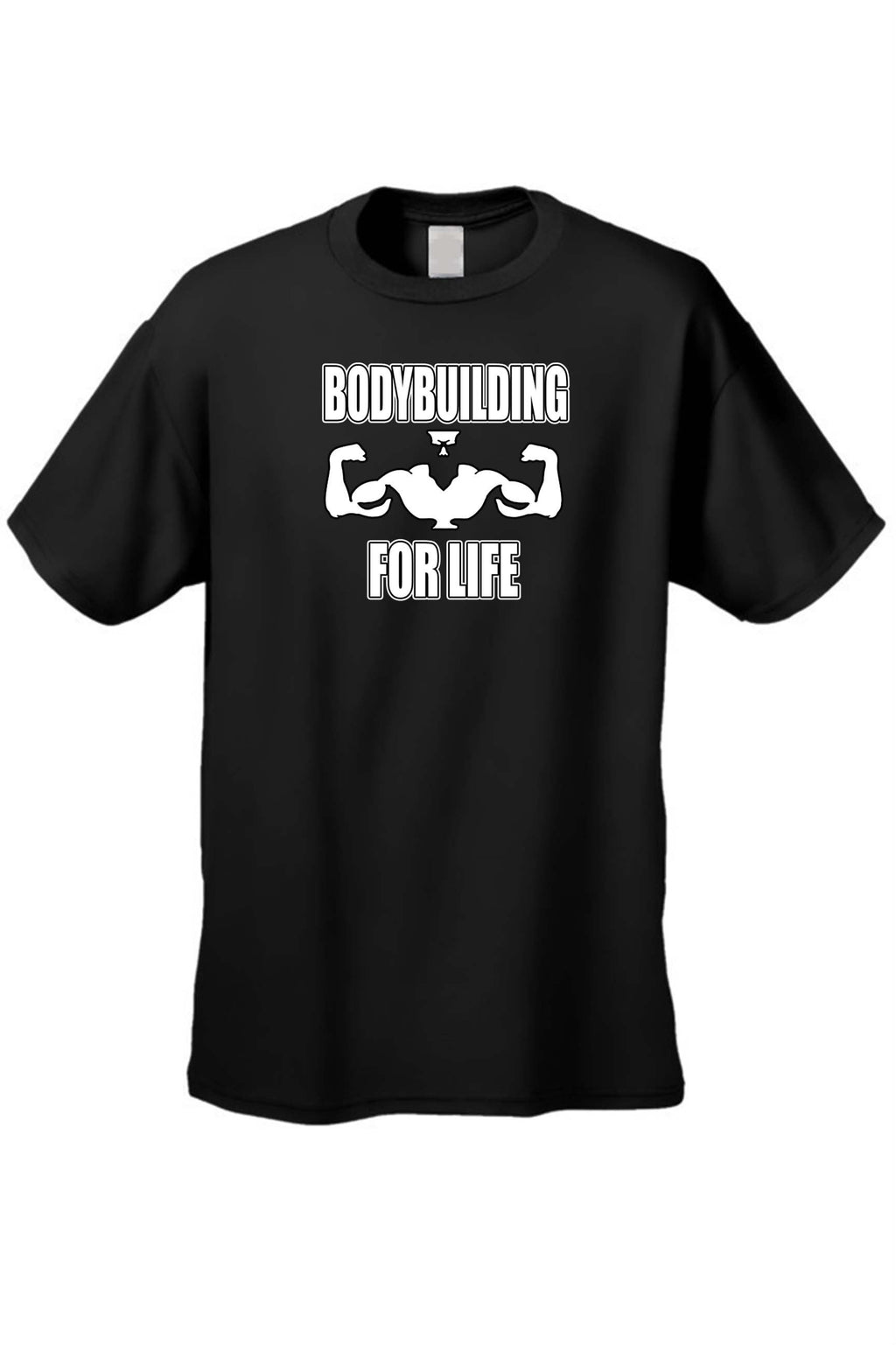 Men's Bodybuilding For Life Workout Fitness Short Sleeve T-shirt