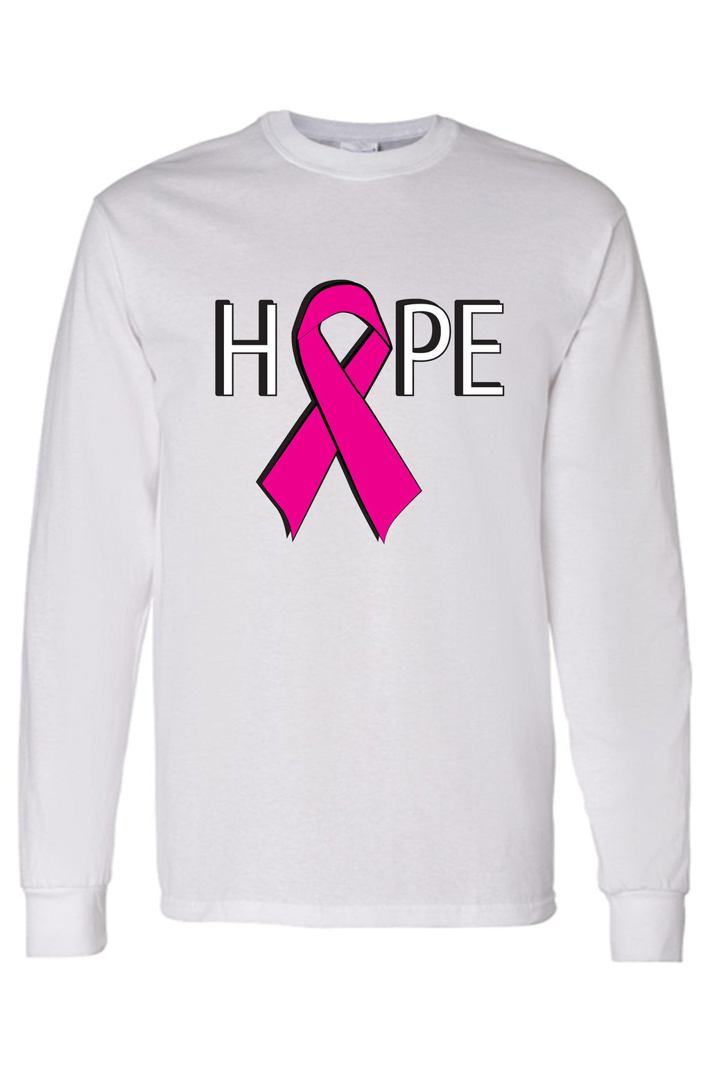 "Unisex ""HOPE"" Breast Cancer Awareness  Long Sleeve T-Shirt"