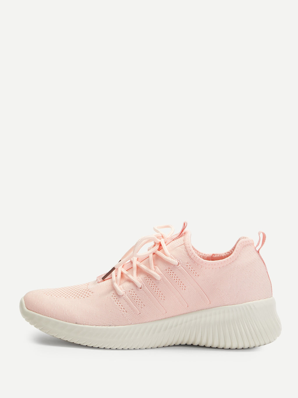 Knit Design Lace Up Sneakers