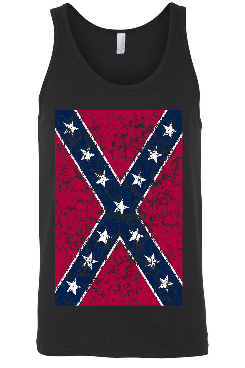 Distressed Confederate Rebel Flag Tank Top