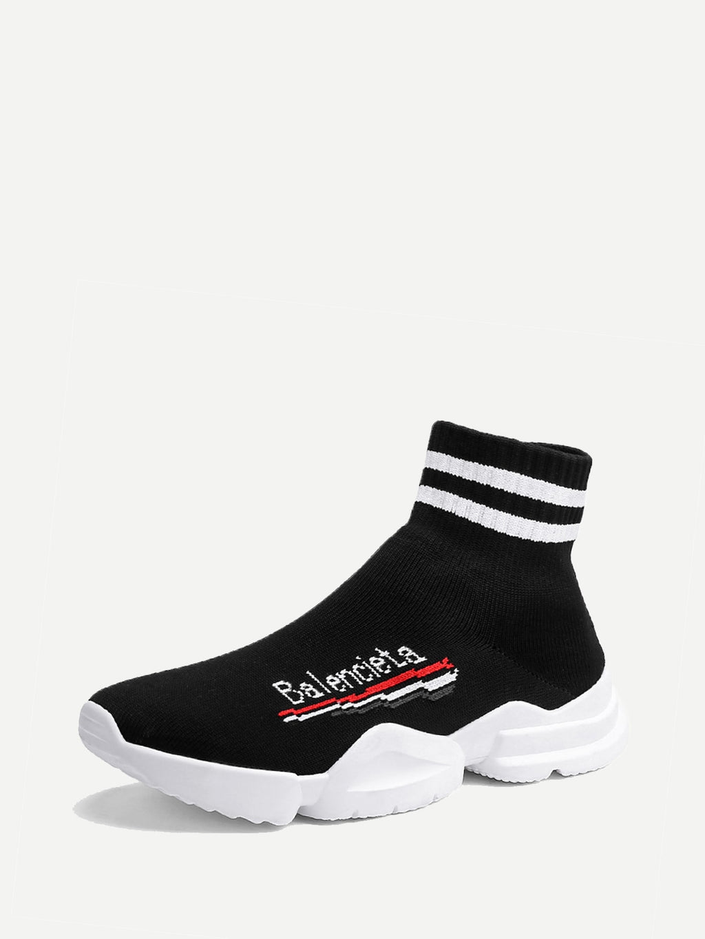 Men Striped Detail Sock Sneakers